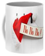 Santa Hat And Sign Coffee Mug