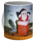 Santa Ho Ho Ho Photo Art Coffee Mug