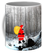 Santa In Christmas Woodlands Coffee Mug