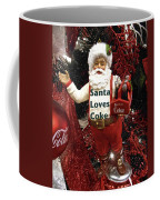 Santa Loves Coke Coffee Mug