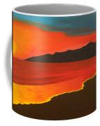 Santa Monica Beach And Mountains Coffee Mug