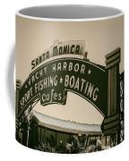 Santa Monica Pier Sign Coffee Mug