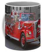 Santa On Fire Truck Coffee Mug