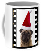 Santa Pug - Canine Christmas Coffee Mug by Edward Fielding