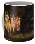 Santa Season Greetings Photo Art Coffee Mug