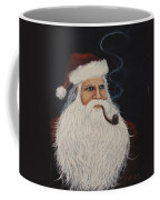 Santa With His Pipe Coffee Mug