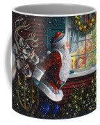 Santa's At The Window Coffee Mug