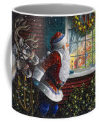 Santa's At The Window Coffee Mug