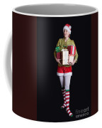 Santa's Helper Merry Christmas Elf Card Coffee Mug