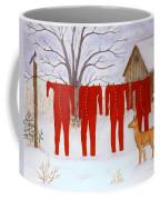 Santa's Long Johns Coffee Mug