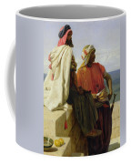 Saracens In Front Of Their Position Coffee Mug by Wilfred Vincent Herbert