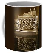 Sarcophoghus Reflected In Antalya Archeological Museum-turkey  Coffee Mug