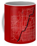Saskatoon Street Map - Saskatoon Canada Road Map Art On Color Coffee Mug