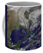 Satellite View Of A Noreaster Storm Coffee Mug