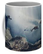 Satellite View Of California Coastline Coffee Mug