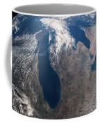 Satellite View Of Great Lakes Coffee Mug