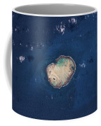 Satellite View Of Rocas Atoll In South Coffee Mug