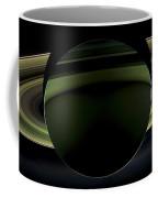 Saturns Glowing Rings Coffee Mug by Adam Romanowicz