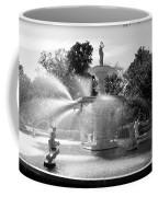 Savannah Fountain - Black And White Coffee Mug