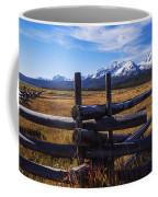 Sawtooth Mountains And Wooden Fence Coffee Mug