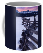 Sawtooth Sunset In Winter Coffee Mug