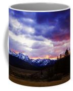 Sawtooth Sunset Panorama Coffee Mug