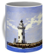 Saybrook Breakwater Lighthouse Old Saybrook Connecticut Coffee Mug