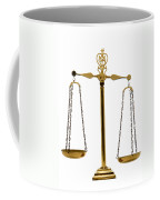 Scale Of Justice Coffee Mug by Olivier Le Queinec