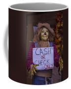 Scarecrow Holding Sign Coffee Mug