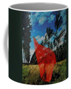 Scarf In The Winds Coffee Mug