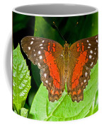 Scarlet Peacock Butterfly Coffee Mug