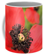 Scarlet Poppy Macro Coffee Mug