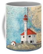 Scarlett Pt Lighthouse Bc Canada Chart Art Coffee Mug