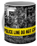 Scene Of The Crime Coffee Mug by Olivier Le Queinec