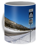 Scenic Highway 12 With Snow Utah Coffee Mug