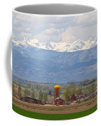 Scenic View Looking Over Anderson Farms Up To Rockies Coffee Mug