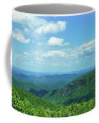 Scenic View Of Mountain Range, Blue Coffee Mug