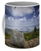 Scenic View With Boulder On Top Of Cadilac Mountain Coffee Mug