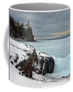 Scenic Winter Lighthouse Coffee Mug