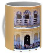 Schoolchildren At The Women's Palace - Jaipur India Coffee Mug