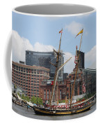 Schooner Arriving At Baltimore Inner Harbor Coffee Mug