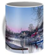 Schuylkill River And Boathouse Row Philadelphia Coffee Mug by Bill Cannon