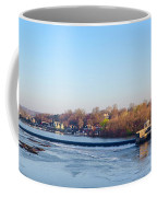 Schuylkill River At Boathouse Row And  The Fairmount Waterworks Coffee Mug by Bill Cannon