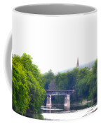 Schuylkill River At Manayunk Philadelphia Coffee Mug by Bill Cannon