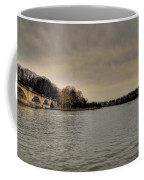 Schuylkill River On A Cloudy Day Coffee Mug by Bill Cannon