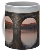 Schuylkill River Railroad Bridge In Autumn Coffee Mug
