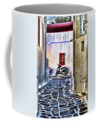 Scooter Mykonos Greece Coffee Mug