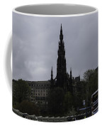 Scott Monument Next To Waverley Train Station And With Sightseeing Buses Coffee Mug