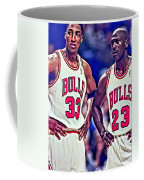 Scottie And Michael Coffee Mug by Florian Rodarte