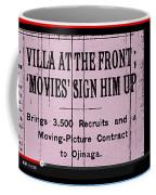 Screen Capture  Newspaper Article  Mutual Film Corporation's  The Life Of General Villa 1914-2013 Coffee Mug